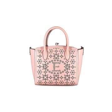 Ermanno Scervino Clio Small Pink Perforated Tote Bag
