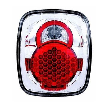 IPCW 87-06 Jeep Wrangler Tail Lamps LED Crystal Clear LEDT-407C Pair