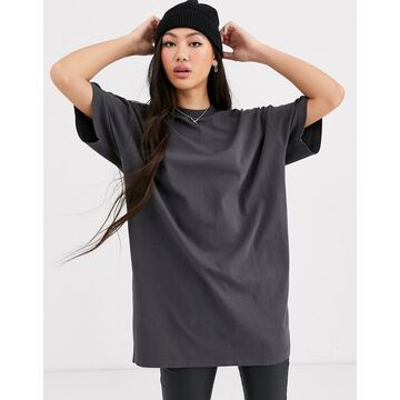 Dr Denim oversized t shirt dress-Gray