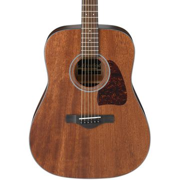 AW54OPN Artwood Solid Top Dreadnought Acoustic Guitar Open Pore Natural