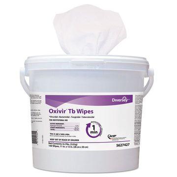 Diversey Oxivir TB Disinfectant Wipes 11 x 12 White 160/Bucket 4 Bucket/Carton