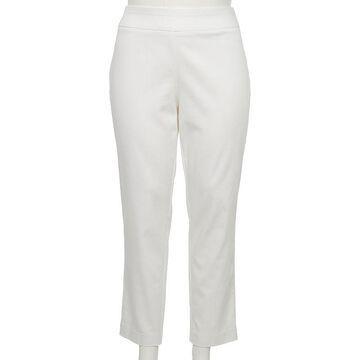 Plus Size Croft & Barrow Effortless Stretch Pull-On Pants, Women's, Size: 24W Short, White