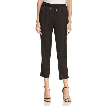 T by Alexander Wang Womens Silk Striped Track Pants