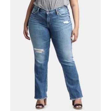 Silver Jeans Co. Trendy Plus Size Suki Straight-Leg Jeans