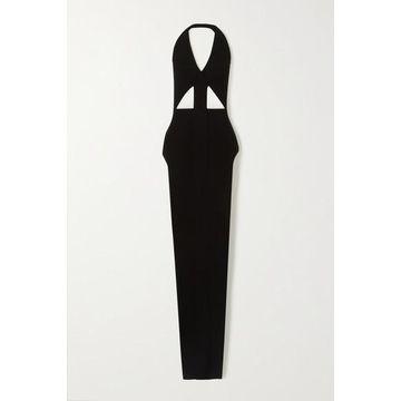 Rick Owens - Ixta Backless Cutout Stretch-knit Maxi Dress - Black