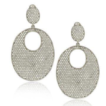 Suzy Levian Sterling Silver Cubic Zirconia Earrings - White