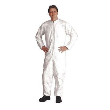 DUPONT IC182BWHXL0025CS IsoClean(R) Coverall,Elastic,XL,PK25