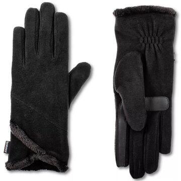 Women's isotoner SmartDRI Lined Stretch Fleece Gloves with Overlap Wrist