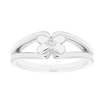 Boston Bay Diamonds Sterling Silver Diamond Accent Butterfly Ring