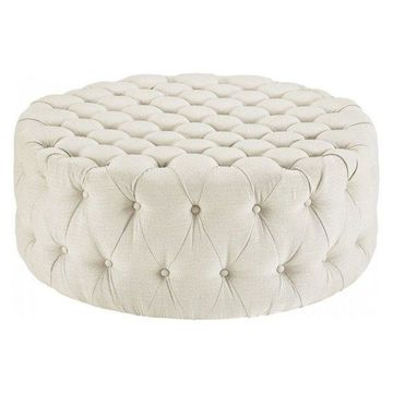 Modway Amour Fabric Ottoman, Beige