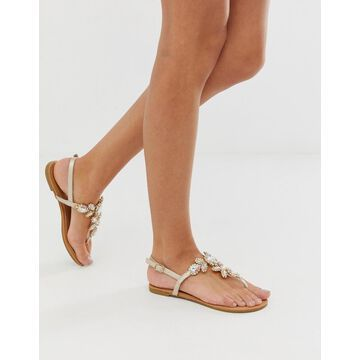 Qupid embellished flat sandals