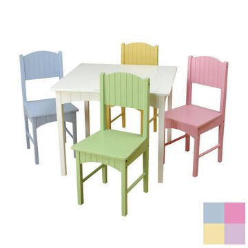 KidKraft Nantucket Pastel Square Kid's Play Table (Set of 4 Chairs) Rubber | 26101