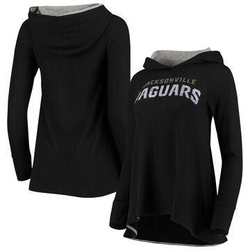 Jacksonville Jaguars Majestic Threads Women's Brushed Hacci Raglan Pullover Hoodie Black