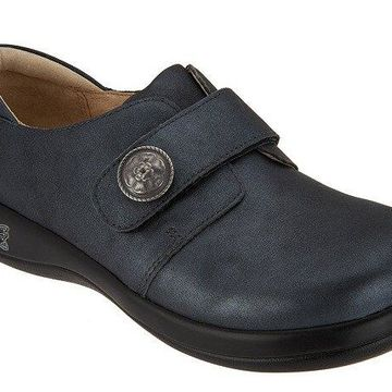 Alegria Leather Slip-on Shoes - Joleen Ashes to Ashes Gray EU35 US 5 NEW