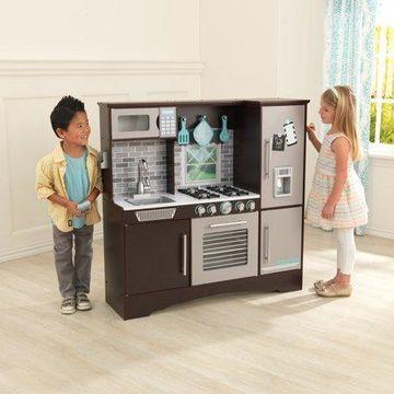 KidKraft Culinary Play Kitchen with 4 Piece Accessory Play Set - Espresso