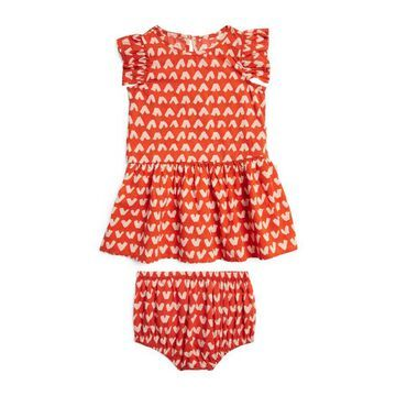 Stella Mccartney Kids Heart Print Dress And Bloomers Set (3-36 Months)