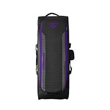 Louisville Slugger Omaha Rig Wheeled Bag - Purple