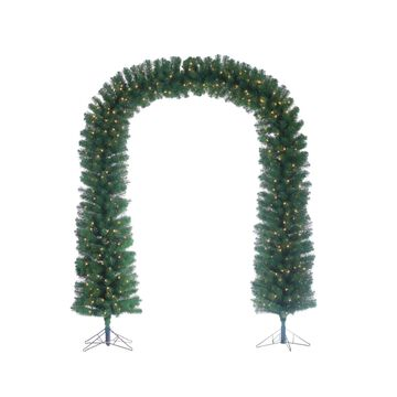 Sterling 7.5-Foot High Pre-lit Arch Tree with Clear White Lights