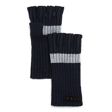 John Varvatos Star Usa Striped Fingerless Gloves