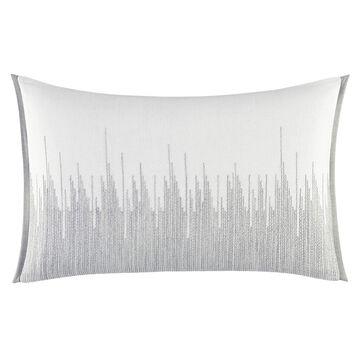 Vera Wang Degrade Woven Stitching Throw Pillow