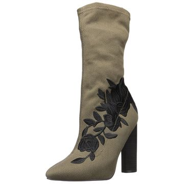 Qupid Women's Parma-08 Fashion Boot, Khaki, Size 10.0