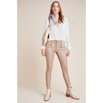 Ella Moss The High-Rise Shimmer Skinny Jeans