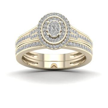 De Couer IGI Certified 1/3ct TDW Diamond Cluster Bridal Sets