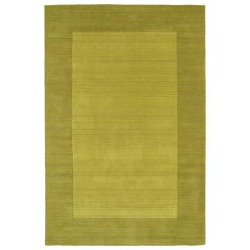 Borders Lime Green Hand-Tufted Wool Rug - 9'6