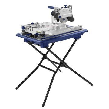 Kobalt 7-in Wet Tabletop Sliding Table Tile Saw with Stand