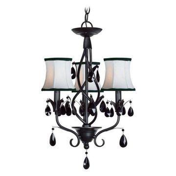 Woodbridge Lighting 12155-BLK Avigneau Chandelier, Black
