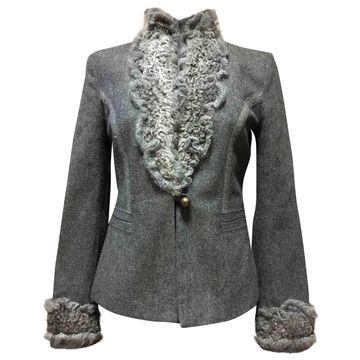 Ermanno Scervino Grey Wool Jackets