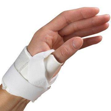 OTC Thumb Stabilizer, Left Hand, White, Medium