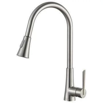 ANZZI Tulip Single-handle Pull-out Sprayer Kitchen Faucet In Brushed N