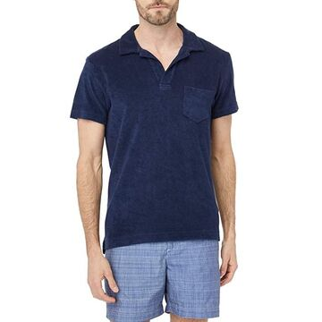 Orlebar Brown Terry Polo (Navy) Men's Clothing