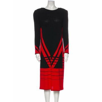 Wool Midi Length Dress Wool