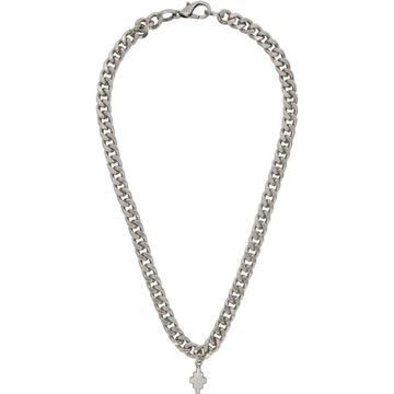 Marcelo Burlon County of Milan Silver Cross Chain Necklace