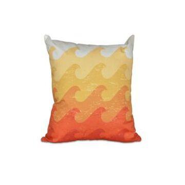 Deep Sea 16 Inch Yellow and Orange Decorative Nautical Throw Pillow