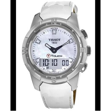 Tissot T-Touch II Digital & Analog Mother of Pearl Dial Women's Watch T047.220.46.116.00 T047.220.46.116.00