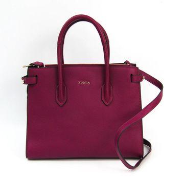Furla Burgundy Leather Handbags