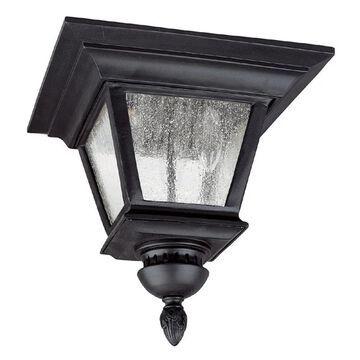 Brookwood 3-light Black Outdoor Flush Mount