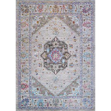 Couristan Gypsy Safavid 5'3 X 7'6 Area Rug In Bone/mocha Pastel/multi