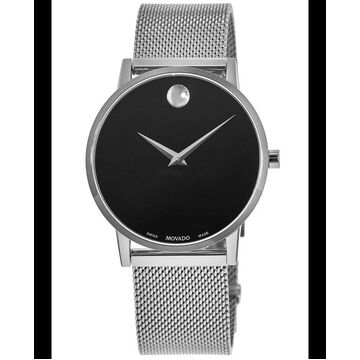 Movado Museum Black Dial Stainless Steel Men's Watch 0607219 0607219
