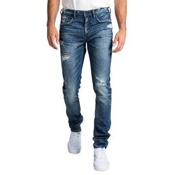 Men's Windsor Fit Stretch Denim Jeans with Rip/Repair