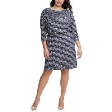 Jessica Howard Plus Size Blouson Sheath Dress