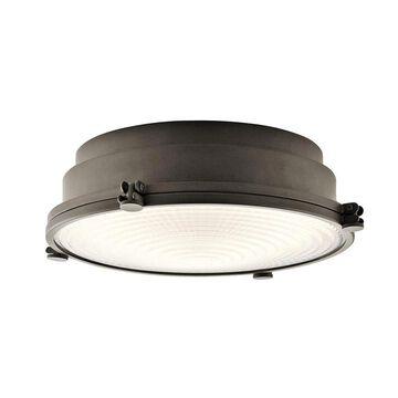 Kichler Hatteras Bay 13.25-in Olde Bronze LED Flush Mount Light ENERGY STAR | 43883OZLEDR