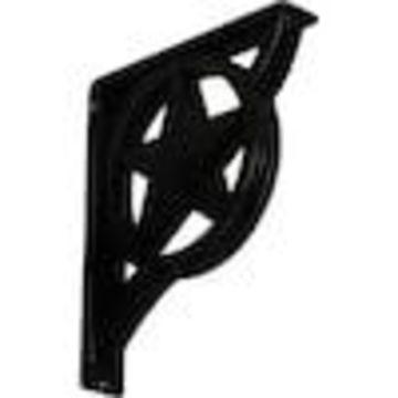 Ekena Millwork Austin 12-in x 2-in x 10-in Black Countertop Support Bracket