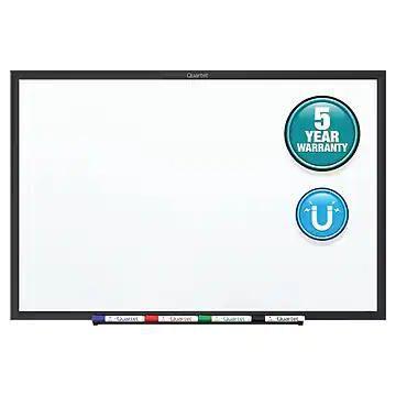 Quartet Nano-Clean Painted Steel Dry-Erase Whiteboard, Aluminum Frame, 5' x 3' (SM535B)
