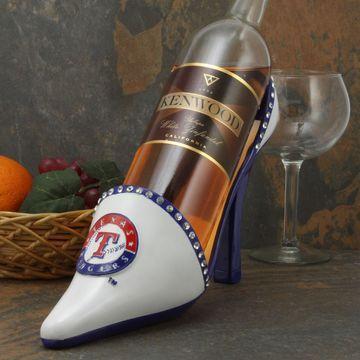Texas Rangers Team Shoe Wine Bottle Holder - White