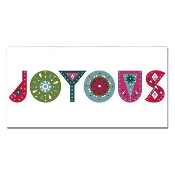 Ready2HangArt 'Joyous' Wrapped Canvas Christmas Wall Art