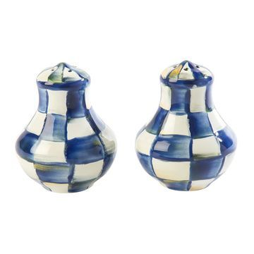 MacKenzie-Childs - Royal Check Salt and Pepper Shakers
